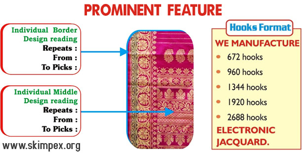 high speed electronic jacquard machine - automatic electronic jacquard - electronic jacquard with power looms - jacquard with rapier loom manufacturers suppliers exporters in india punjab ludhiana surat